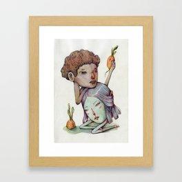 Melancholy pair and potato-carrots  Framed Art Print