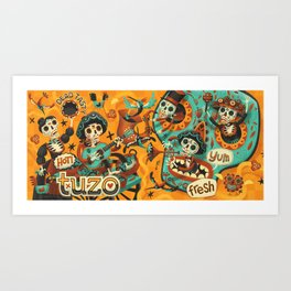 Day of the Dead - Mariachi Art Print