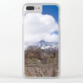 Sicilian Volcano ETNA Clear iPhone Case