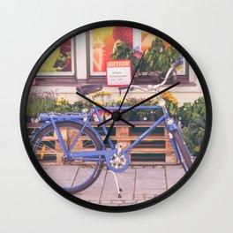 Market Bicycle Wall Clock