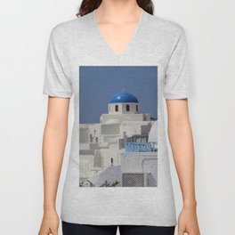 Blue Church Cupola Unisex V-Neck