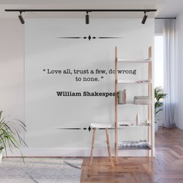 William Shakespeare Quote Wall Mural