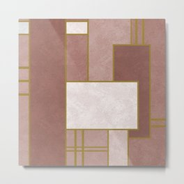 ABSTRACT GEOMETRIC 02 (marble) Metal Print