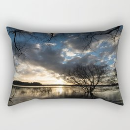 Sunset in the Los Padres lagoon. Rectangular Pillow