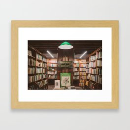 Bookstore magic corner Framed Art Print