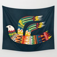 native Wall Tapestries featuring Native Bird by Picomodi