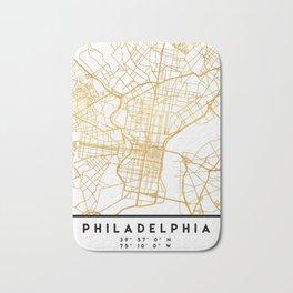 PHILADELPHIA PENNSYLVANIA CITY STREET MAP ART Bath Mat