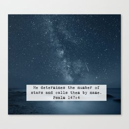Counts the Stars Canvas Print
