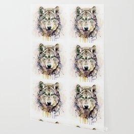 Wolf Head Watercolor Portrait Wallpaper
