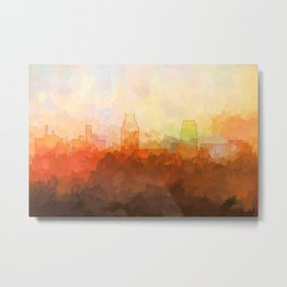 Camden, New Jersey Skyline - In the Clouds Metal Print