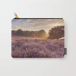 I - Blooming heather at sunrise, Posbank, The Netherlands Carry-All Pouch