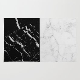 Black & White Marble II Rug