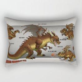 Draconis Horribilis Rex Rectangular Pillow