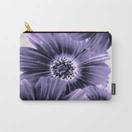 Daisies floral in soft lavender hues Carry-All Pouch