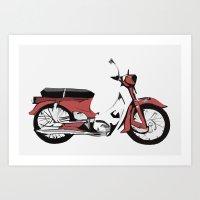 motorbike Art Prints featuring Motorbike by Ryan Ly