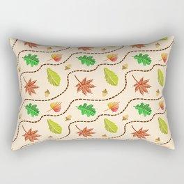 Autumn Leaf Wave Rectangular Pillow