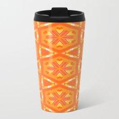 Orange and Yellow Stars and Hearts 9055 Metal Travel Mug