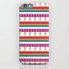 flower dot stripe iPhone 6s Slim Case