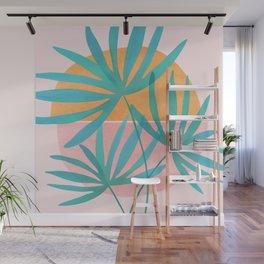 Retro Sunset Palms Wall Mural