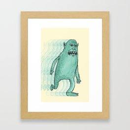 Can't Keep Running Away Framed Art Print