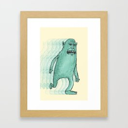 Can't Keep Running Away Framed Art Print
