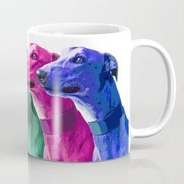 Greyhounds. Pop Art portrait. Coffee Mug