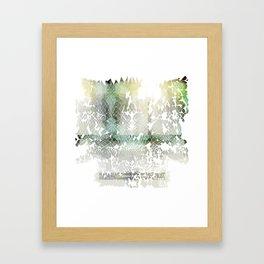 Fractured Silver Framed Art Print