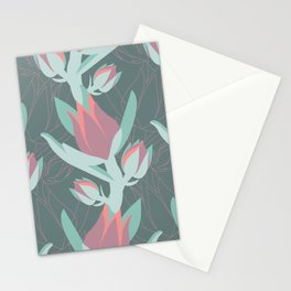 Succulent floral element & patterns II Stationery Cards
