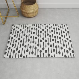 Kitchen cutlery spoons Rug