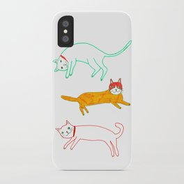 Lying cats iPhone Case