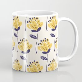 Modern Flower Pattern Art Design Coffee Mug