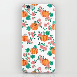Pumpkins and Roses iPhone Skin