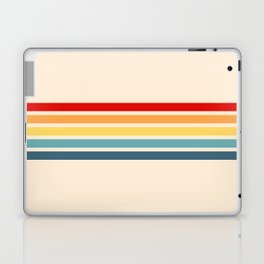 Takaakira - Classic Rainbow Retro Stripes Laptop & iPad Skin