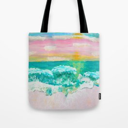 Pink Sand Sunset Tote Bag