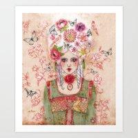 marie antoinette Art Prints featuring Marie-Antoinette by Minasmoke
