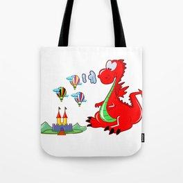 Dragon The Hot Air Balloon Helper Tote Bag