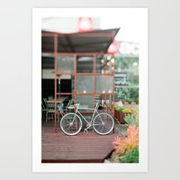 cycle Art Prints featuring cycle by //The Grovers