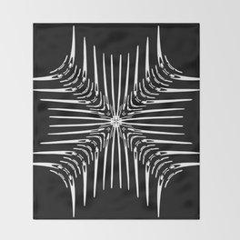 Geometric Black and White Skeleton African-Inspired Pattern Throw Blanket