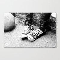 converse Canvas Prints featuring converse by Annretro
