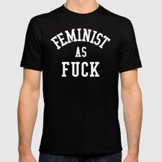 Feminist as Fuck Mens Fitted Tee LARGE Black