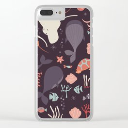 Sea creatures 002 Clear iPhone Case