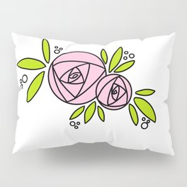 Bright Rose Pillow Sham