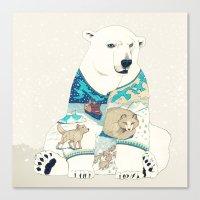 polar bear Canvas Prints featuring Polar Bear by Yuliya