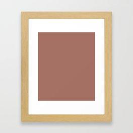 Blast-Off Bronze - solid color Framed Art Print