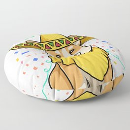 Cinco de Mayo Funny Corgi Dog with a Poncho & Mexican Hat print Floor Pillow