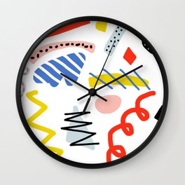 Memphis Zazzle Wall Clock