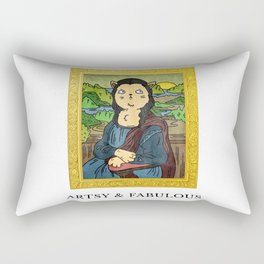 Meow - Artsy and Fabulous Rectangular Pillow