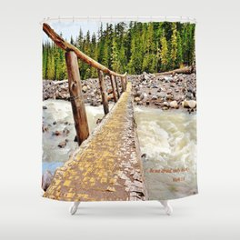 Be Not Afraid Only Believe Shower Curtain