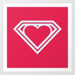 Superlove Art Print