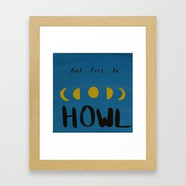 Moon Howler Framed Art Print